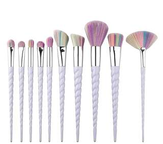10 pc. Unicorn Horn Make-Up brushes