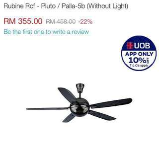 Rubine Ball Fan Black
