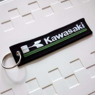 Kawasaki Motorcycle Double Side Embroidered Keychain