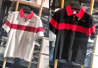 Champion polo tee in blk or white