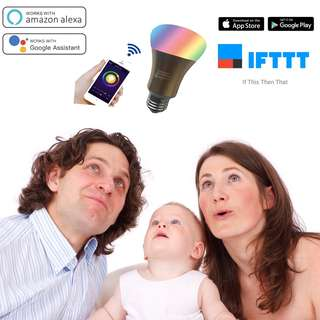 HE-C7 Smart LED Wifi Bulb works with Google Home and Alexa