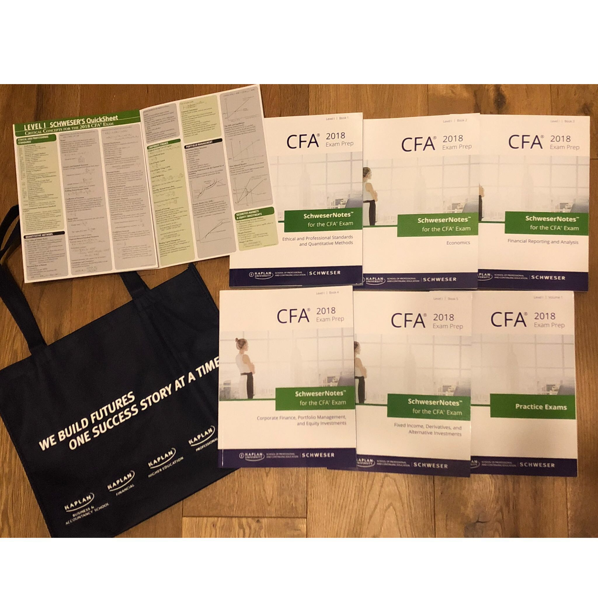2018 CFA Level 1 Kaplan Schweser Notebooks Original