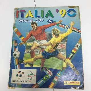 PANINI 1990 world cup 集圖冊
