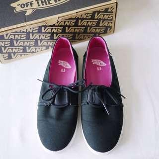 🚚 Vans黑色素面圓頭平底舒適休閒運動鞋女鞋US6.5/UK4/EU36.5/CM23附鞋盒