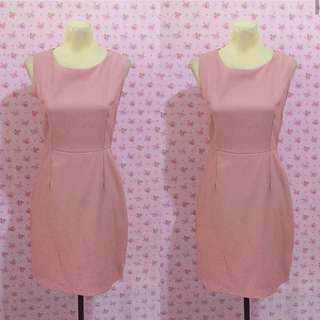 Old Rose Plain Office Dress