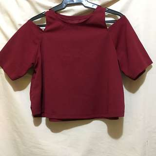 Crop Top (Off-shoulder Red)