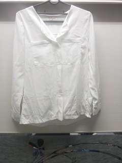🚚 口袋雪紡長袖襯衫上衣