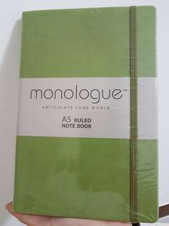 Brand new A5 monologue notebook