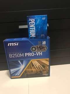 MSI B250M Pro-VH 底板+Intel G4560 CPU(入門打機平價首選)急放