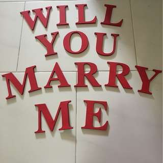 "Proposal Wooden Craft ""WILL YOU MARRY ME"""