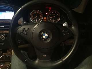 BMW m5 steering paddle shifter with airbag