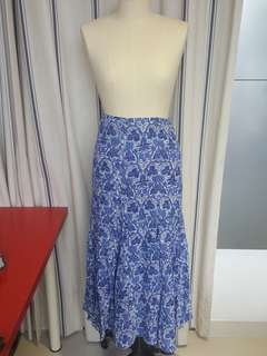 Chic Ralph Lauren Blue Summer Maxi Skirt