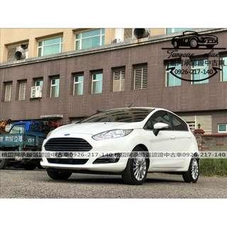 【FB搜尋桃園阿承】福特 超人氣FIESTA 2015年 1.0 白色 二手車 中古車