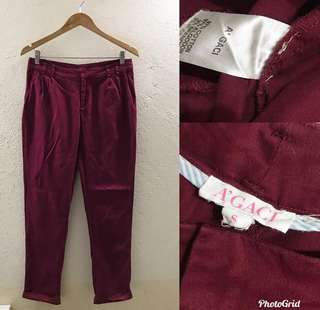 Maroon Trousers