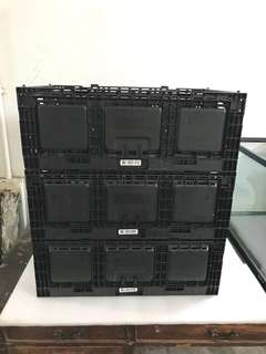 Clearance Sales Plastic Folding basket container
