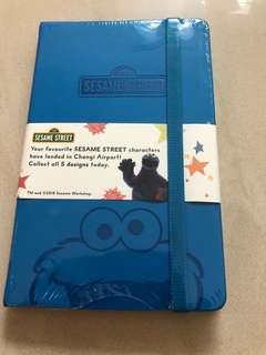 Sesame Street note book blue