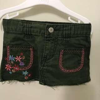 (Price reduce)Babygap girl skirt (blue)