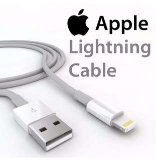 """Apple lightning cable with box and manual """"Brand new with sealed"""" Order now!"""
