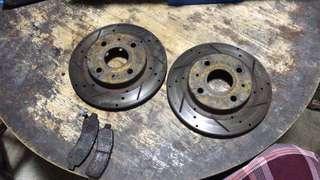 myvi disc rotor +  works brake pad(70%)