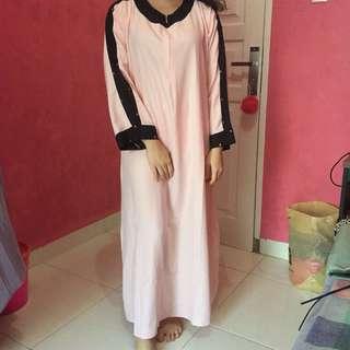 Abaya Soft Pink (Ready 2 pcs)
