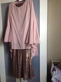 Blouse and sequin dress *poplook*
