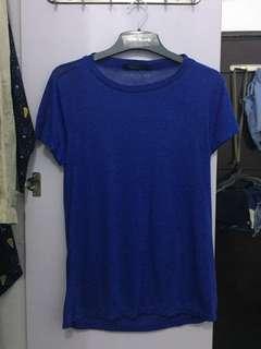 Folded & Hung blue top