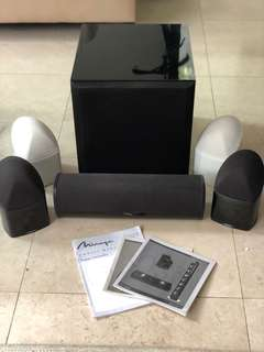 Mirage OS3 sat bookshelf speaker x 4 + OS3 CC + subwoofer