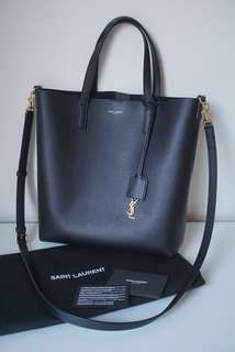 Saint Laurent Shopping Toy Bag in Black Leather