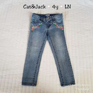 Cat & Jack Embroidered jeans