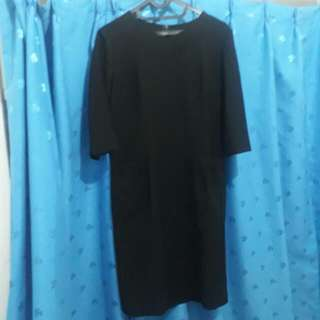 Dress Black Lengan