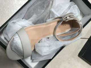 BNIB Light Grey Strap Block Heels