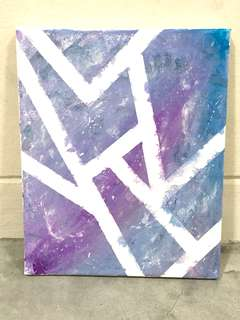 Brand New Acrylic painting - pretty purple blue colour