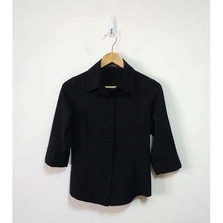 🚚 專櫃niceioi 細直條紋七分袖襯衫