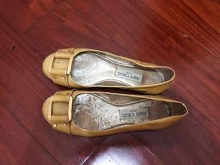 Jimmy Choo 裸色漆皮平底鞋 nude patent leather  flats