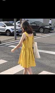 黃色連身裙(超級可愛)