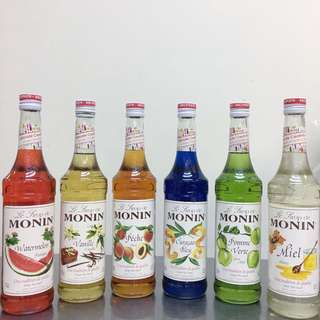 Monin 糖漿 700ml 全新 monin syrup cocktail mixer drinks