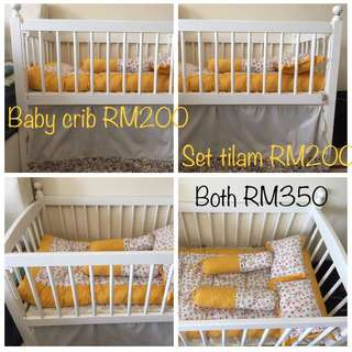 Baby crib & kekabu bedding set