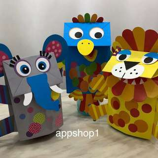 Children handicrafts art and craft puppet- party games, goodie bags gift