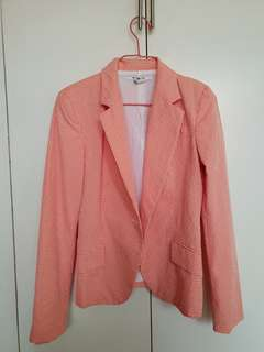 Orange Gingham Blazer