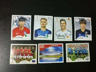 Panini Stickers 2018 and 2016