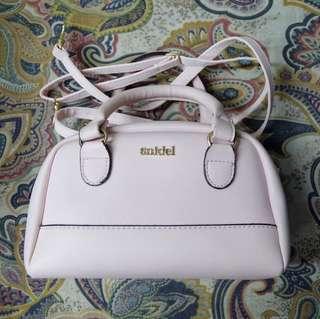 Snidel Handbag with Detachable Sling in Blush Pink