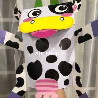Moo moo cow DIY art and craft birthday party games, goody bags packages