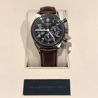 Longines Avigation Bigeye 99.9% NEW, Warranty