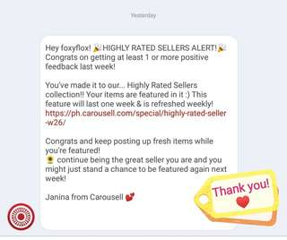Thank you, Carousell ♥♥♥