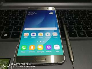 Samsung Galaxy Note 5 Duos 32GB 4GB Ram Platinum Gold 4G LTE