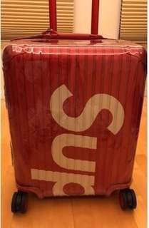 """COVER For SUPREME X RIMOWA 行李保護套 現貨 """"非出售行李箱PVC COVER ONLY"""""""