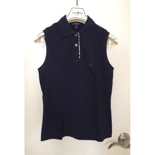 Burberry London    女裝 針織 Polo反領款 背心  Ladies knitted sleeveless polo shirt    @ Size S @