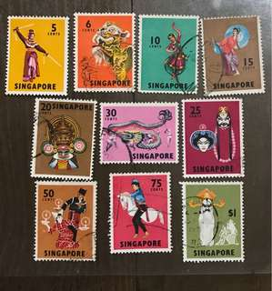 Singapore stamps 1969 dancers set used