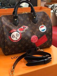 Authentic Lv Speedy B 30 World Tour