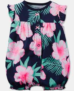 BNWT Carter's Floral Baby Girl Romper(9m)